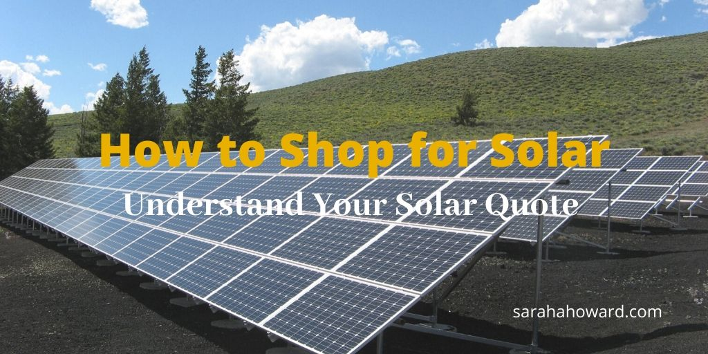 how to shop solar
